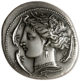Monnaie antique Déesse Tanit