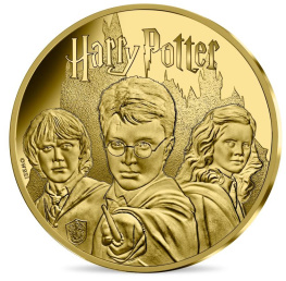 Harry Potter avec Ron et Hermione