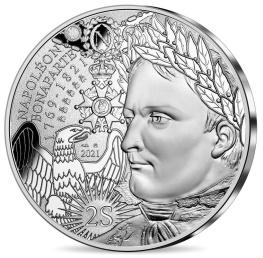 Bicentenaire Napoléon monnaie 10 € argent